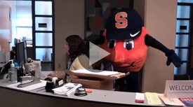 Syracuse University's Otto the Orange Taking Part in Ellen DeGeneres' Dance Dare